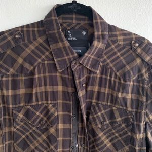 G-Star Raw Curtis Shirt L/S Zip and Snap Button